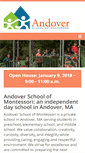 Mobile Preview of andovermontessori.org