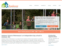 Tablet Preview of andovermontessori.org